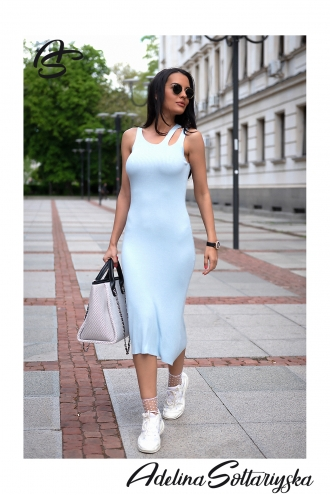 "Рокля ""Light blue"""
